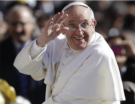 Papa Francesco in visita al Centro Astalli