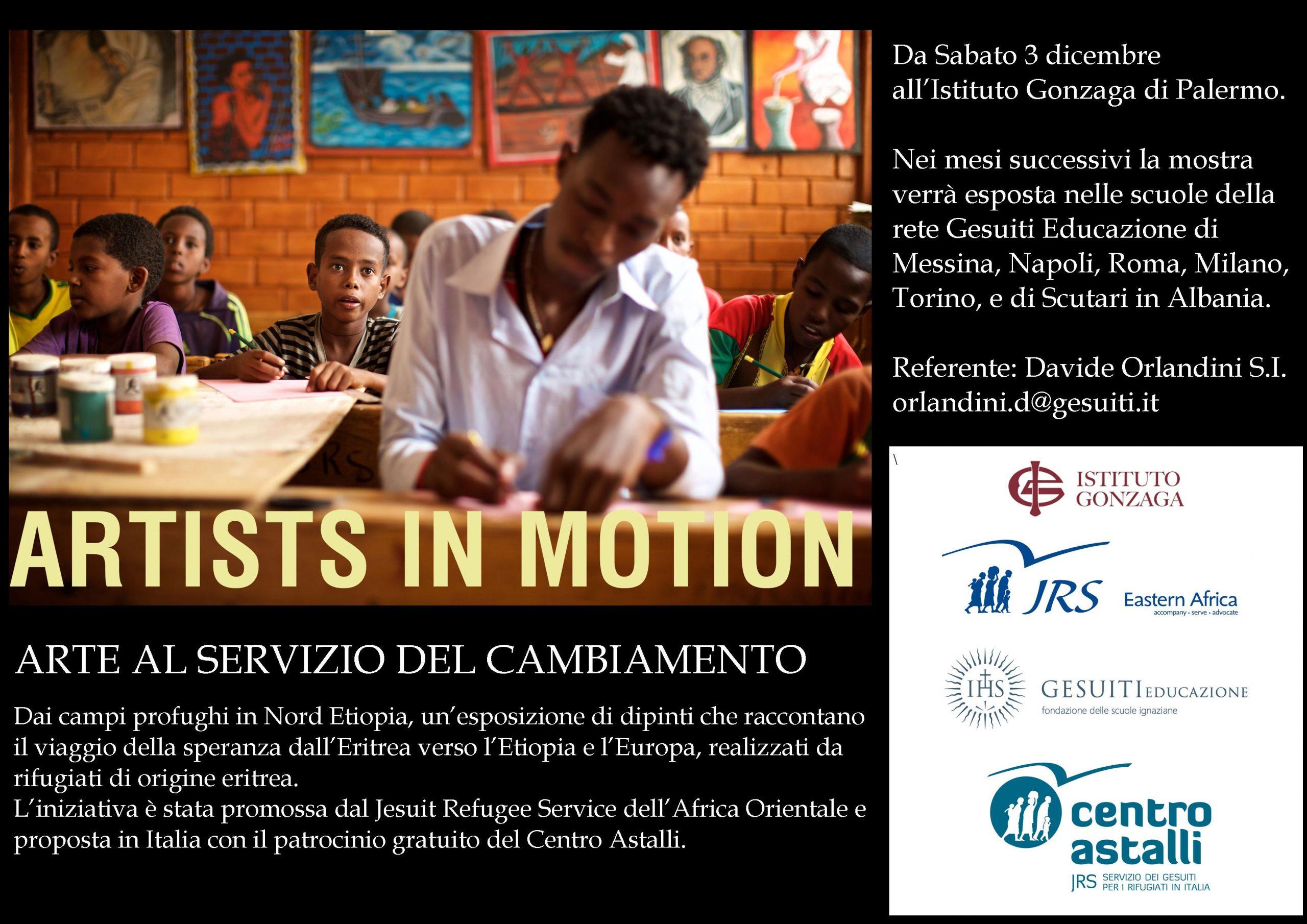 """""""Artists in motion"""", i quadri dei rifugiati eritrei del campo di Mai Aini in Etiopia arrivano in Italia"""